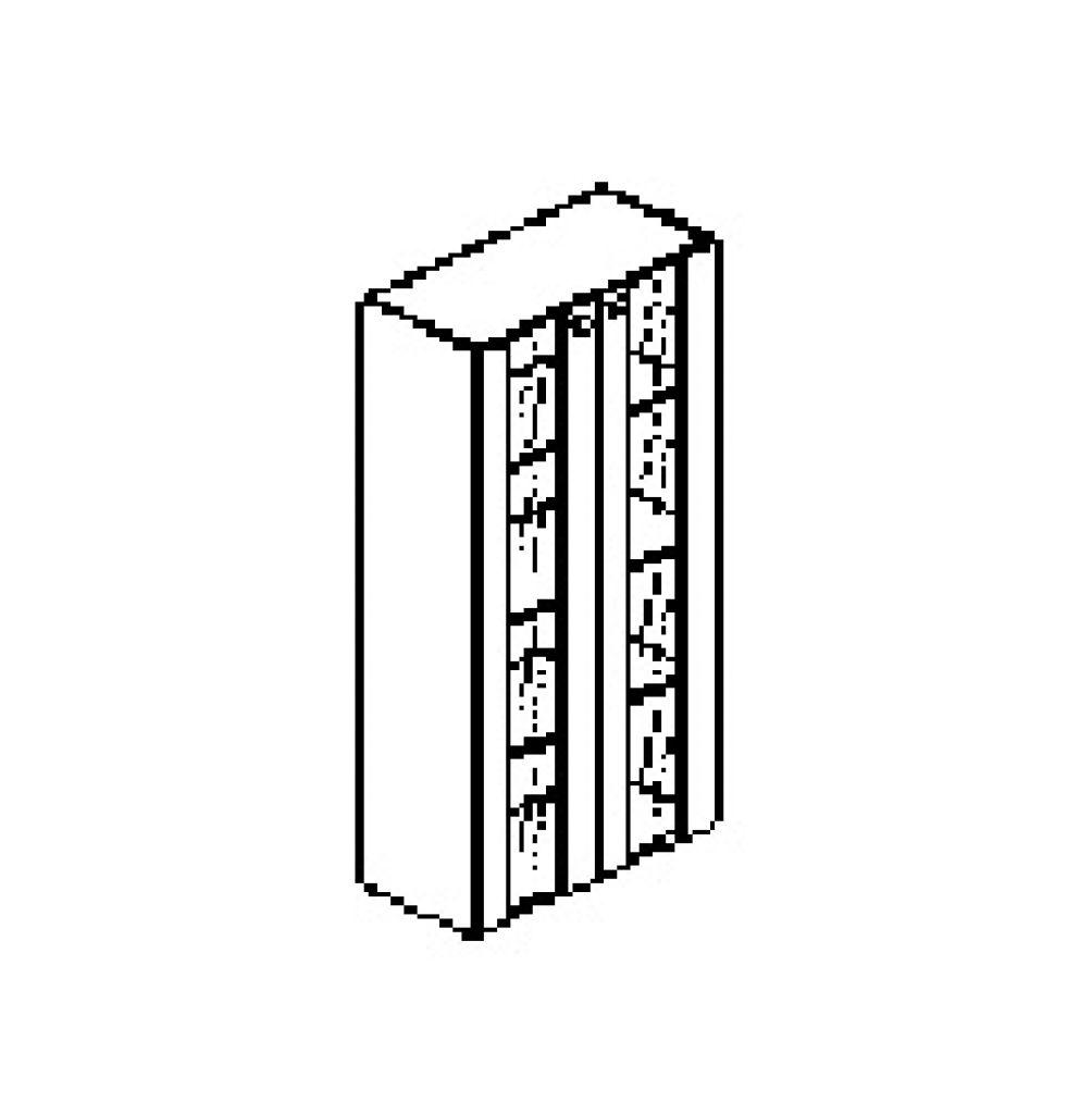 Silver irodabútor-irodai-négyrendezős-zárt-üveges-szekrény