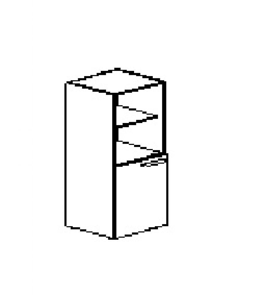 Silver irodabútor-irodai-négyrendezős-keskeny-nyitott-zárt-szekrény