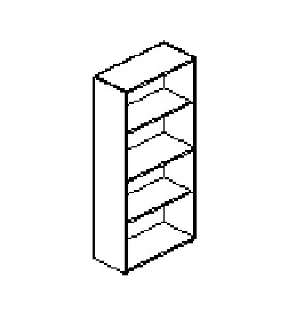 Silver irodabútor-irodai-négyrendezős-nyitott-szekrény
