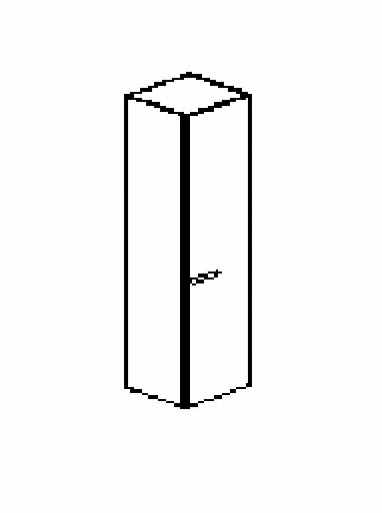 Silver irodabútor-irodai-ötrendezős-keskeny-zárt-egyajtós-szekrény