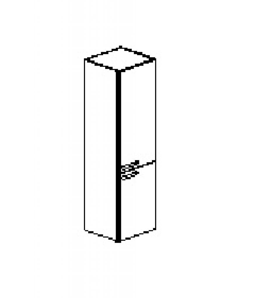 Silver irodabútor-irodai-ötrendezős-keskeny-zártt-kétajtós-szekrény