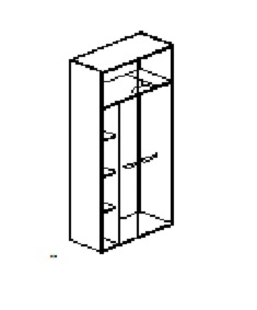 Silver irodabútor-irodai-ötrendezős-kétajtós-akasztós-zárt-szekrény