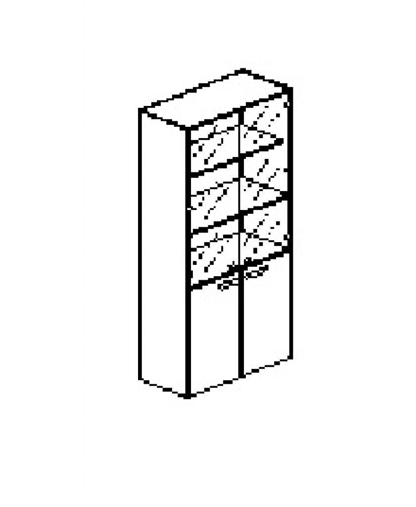 Silver irodabútor-irodai-ötrendezős-üveges-zárt-szekrény