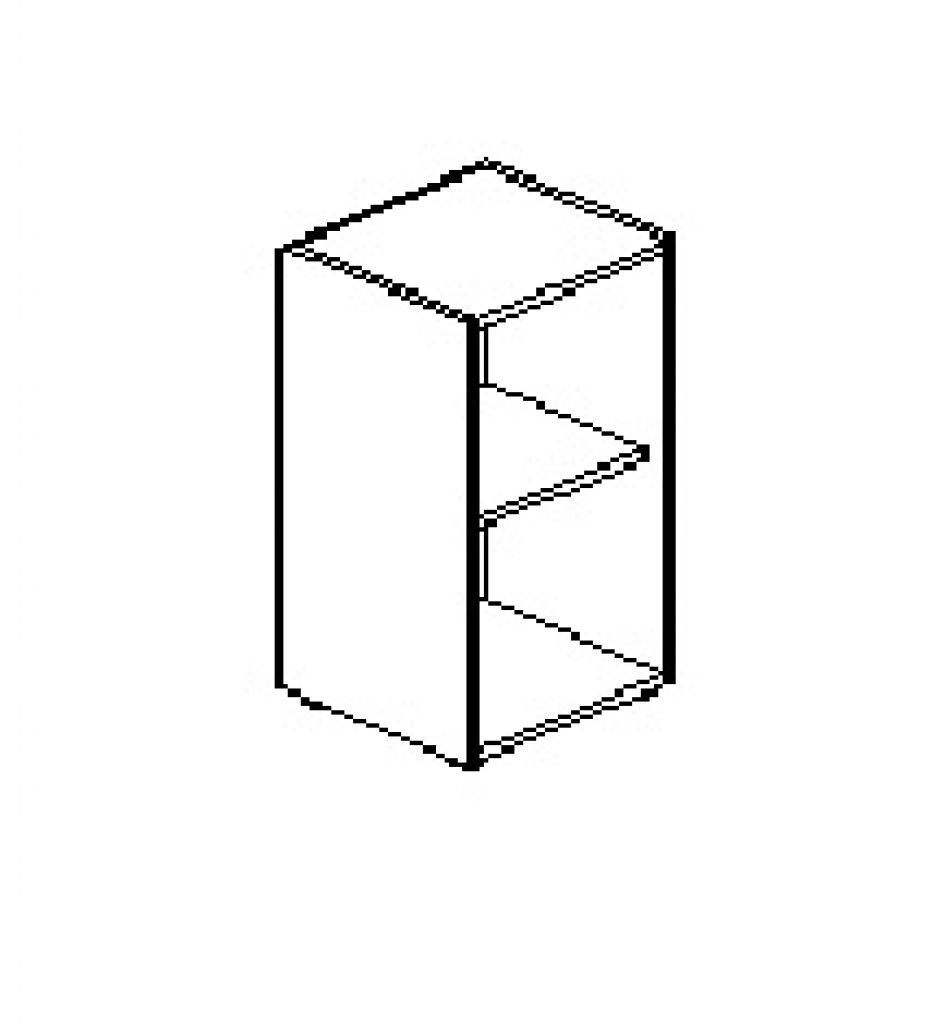 Silver irodabútor-irodai-alacsony-keskeny-nyitott-szekrény