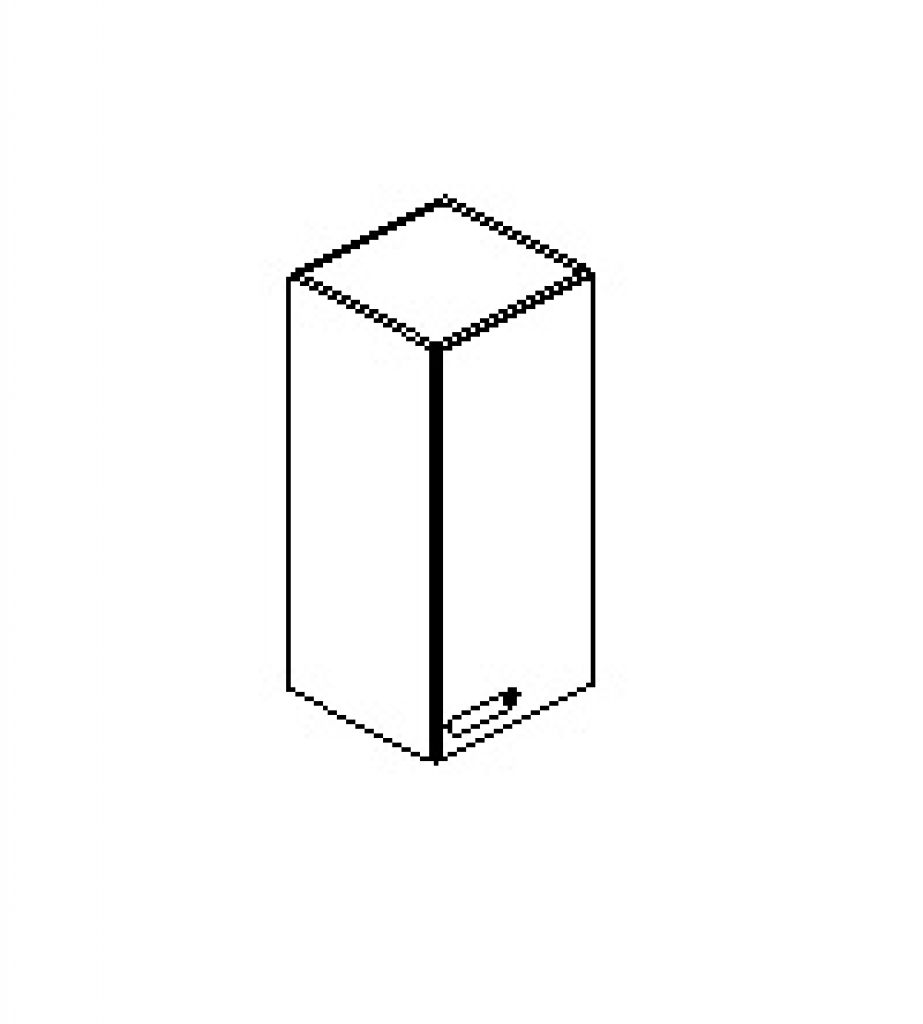 Silver irodabútor-irodai-keskeny-ajtós-felső-szekrény