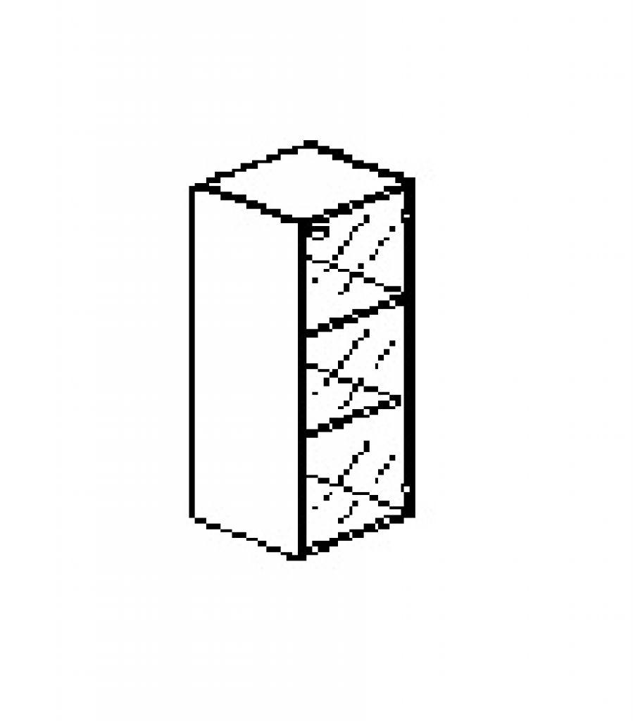 Silver irodabútor-irodai-keskeny-jobbos-szekrény
