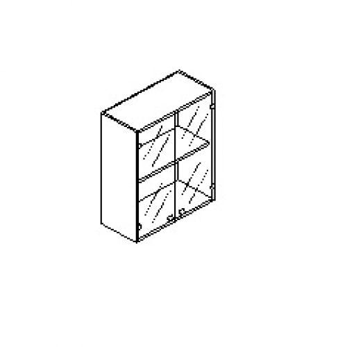 Silver irodabútor-irodai-üveg-ajtós-felső-szekrény