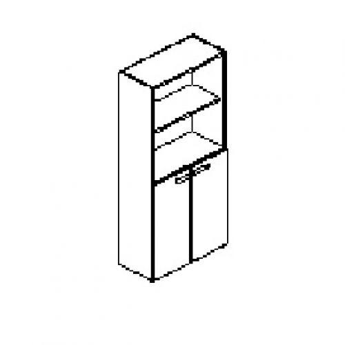 Silver irodabútor-irodai-négyrendezős-nyitott-zárt-szekrény