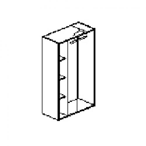 Silver irodabútor-irodai-négyrendezős-zárt-akasztosszekrény