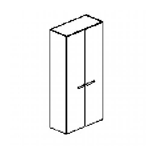 Silver irodabútor-irodai-ötrendezős-kétajtós-zárt-szekrény