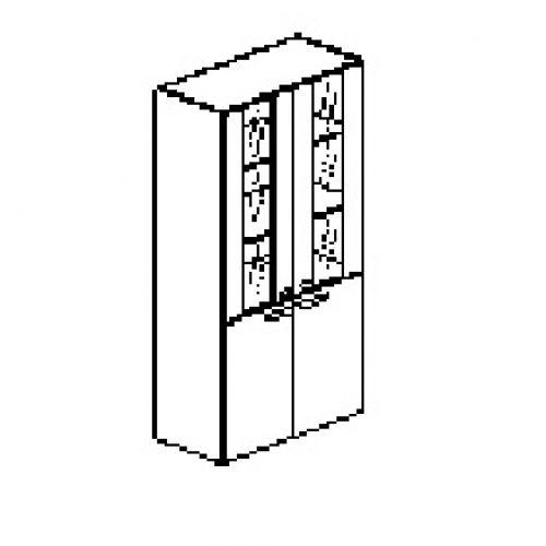 Silver irodabútor-irodai-ötrendezős-faüveges-zárt-szekrény