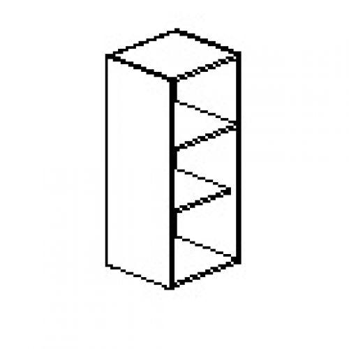 Silver irodabútor-irodai-keskeny-nyitott-szekrény