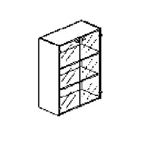 Silver irodabútor-irodai-üveg-ajtós-szekrény