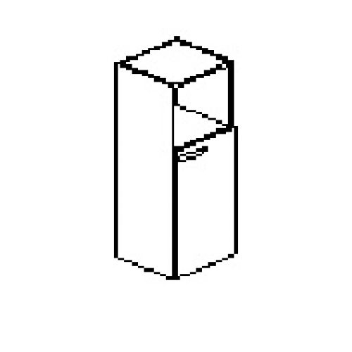 Silver irodabútor-irodai-keskeny-kombi-szekrény